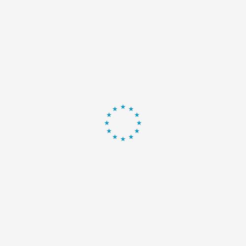 Vet Bed Effen Lichtblauw met Groene Rug 28 mm 150 x 100 cm
